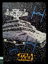 Star Destroyer Solo Star Wars Topps Sketch Card Artist Proof by Kurt Ruskin