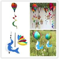 Hot Air Balloon Wind Spinner Yard Garden Decorative Stakes Outdoor Wind Spinners