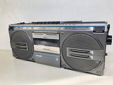 Philips Boombox D-8132 Radio FM MW LW Stereo Cassette Player - Retro Boombox