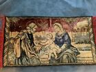 "Vintage Mary  Jesus Joseph Carpet Wall Hanging Rug Tapestry 40"" x 21"""