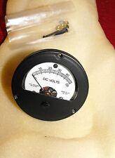 0 - 50V DC Analog Einbau Messinstrument , Rund Voltmeter - Messgerät NEU