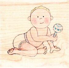 Baby sonaglio-Jolly Nation legno montato timbro