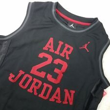 aeb8c6fca017e6 Air Jordan Kids Boys Sleeveless Shirt Top Athletic Basketball Sz L Black C8