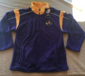 NWT East Carolina Pirates Sweatshirt Youth Large Fleece Purple NCAA Official