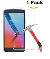 BRAND NEW TEMPERED GLASS SCREEN PROTECTOR FOR STRAIGHT TALK ZTE MAX BLUE