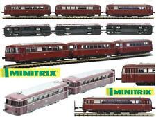 MINITRIX 12647 VINTAGE 3 TRAM RAIL-BUS DIESEL VT98 TRENO REGIONALE DB SCALA-N