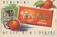 buvard chocolat menier au lait et a l'orange ( chaton)