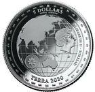 2020 1 Oz Silver $5 Tokelau TERRA Proof-Like Coin.