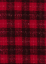 Tartan Check Red & Black Dress Craft Fabric Material