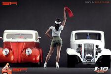 1/18 Street Racing girl figure VERY RARE !! for1:18 CMC Autoart Ferrari Hot Rod