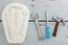 DIY Tools Spanner, Hammer, Screwdriver Food safe Silicone Sugar craft Mould M040