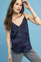 Anthropologie Floreat Navy Blue CrinkleTextured Chemise Size Small New With Tags