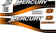 ORANGE MERCURY 90 OUTBOARD FOUR STROKE MOTOR STICKERS DECAL KIT ENGINE