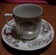 Vintage Handpainted Demitasse Cup & Saucer - no marks