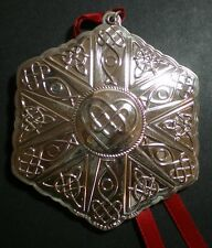 """2011 Towle Celtic Knot Sterling Christmas Ornament 12th Edition 3.5"""" High"""