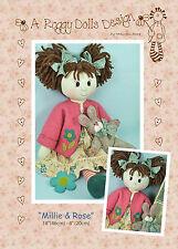 MILLIE & ROSE - Rag Doll Sewing Craft PATTERN - Primitive Prim Shabby Chic