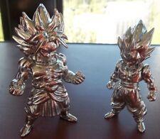 "Lot of 2 DRAGONBALL Z  BROLY & GOGETA Metal Figures 3"" tall BANDAI ABSOLUTE"