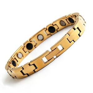 10MM Silver/Gold Mens Tungsten Carbide Bracelets Health Energy Bangle Chain