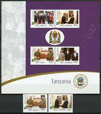 More details for tanzania stamps 2011 mnh independence nelson mandela obama 2v set 2x 4v m/s