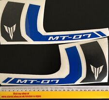 2x Black & Blue Stickers MT-07 250mm x 106mm Sticker Decal