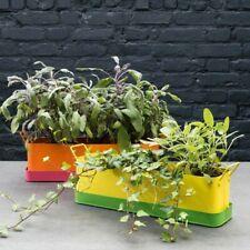 Habitat Leon Herb Planter Metal Rectangle Plant Pot Window Box