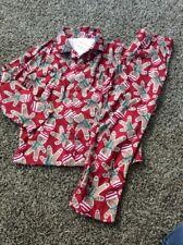 Gymboree Gingerbread Christmas Holiday Pjs Pajamas Boy Girl Nwt L 10 12