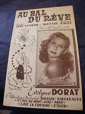 Partition Au bal du rêve Evelyne Dorat  Music Sheet