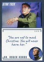 Star Trek TOS Archives & Inscriptions card #21 DR Roger Korby Var 8 out of 36