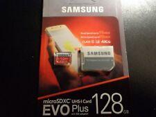 New Samsung 128GB EVO Plus + UHS-I U3 MicroSDXC Class 10 Micro SD Memory Card