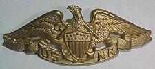 """WW2 *US Merchant Marine* """"USNR"""" Sterling Officers Badge - Vanguard N.Y."""