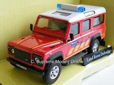 Land Rover Defender Fire de panne 1/43 modèle menthe voiture LWB rouge exemple t3412z - + -