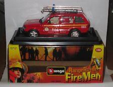 Burago Fire Men RANGE ROVER BAA Airport Fire Tender Vehicle 1/25 - BNIB - RARE