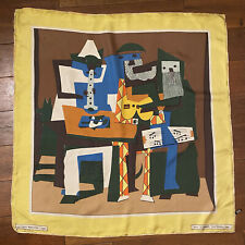 VTG Picasso Silk Scarf S.P.A.D.E.M. Paris Three Musicians 1921 MOMA ABSTRACT