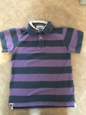 Mini Boden Polo Shirt, Blue & Purple Stripes, Aged 7-8 Years, Preloved