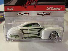 Hot Wheels Wayne's Garage Real Riders Tires Tail Dragger White