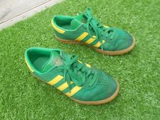 ADIDAS HAMBURG SUEDE LEATHER TRAINERS UK SIZE 6.5 - IN GREEN - AVERAGE CONDITION