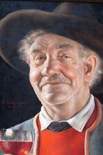 Original Ölgemälde Otto Eichinger (1922-2004), Ein guter Tropfen