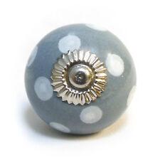 gris avec blanc à pois placard Céramique Poignée Tiroir Armoire Pommeau de porte