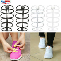 1Pair Lazy Elastic Silicone Shoelaces No Tie Running Sneakers Strings Shoe Laces