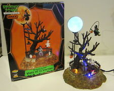 Retired Lemax Halloween Spooky Town Village Witch's Joyride 44109 Works