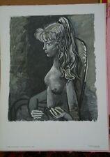 "Vintage Picasso ""Sylvette Au Fauteuil"" Litho. Heavy Stock. Printed France, 1980"