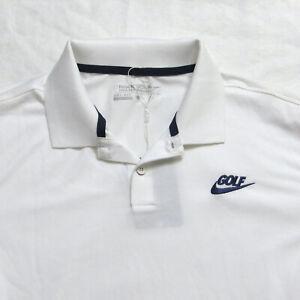 NWT Nike Golf Tour Performance Dri Fit Slim Fit Polo Shirt White Mens Medium