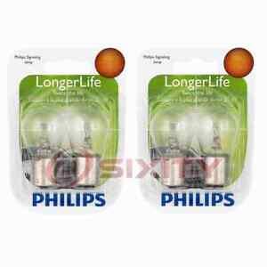 2 pc Philips 1156LLB2 Long Life Tail Light Bulbs for 30175 72976 BP1156LL lf
