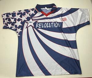 Rare Vintage Reebok MLS  New England Revolution Soccer Jersey Men/Adult XL