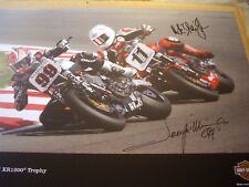 Jeremy McWilliams & Mike Edwards firmato Harley Davidson RACE serie poster
