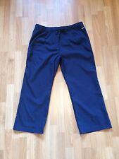 BNOWT Ladies Nike DRI-FIT Navy Blue 3/4 Length Capri Trousers -Size Small (8-10)