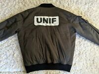UNIF Olive Green Bomber Jacket RARE Dolls Kill Goth Unisex L