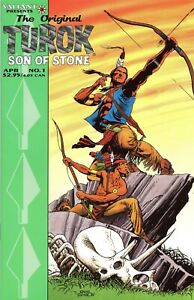 Original Turok Son Of Stone #1-2 complete set Valiant Comics Gioletti dinosaurs