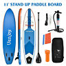11' Inflatable SUP Stand up Paddle Board Surfboard Adjustable Fin Paddle Blue