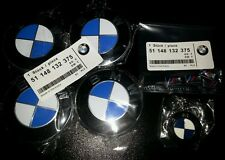 Aleación 68 mm Color Original 4 xblue Centro De Rueda Caps 10 Pin M insignias y Llavero